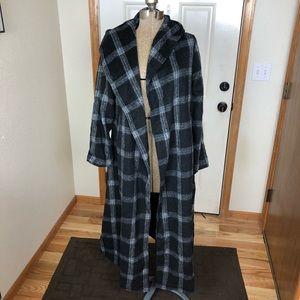 NWT Order Plus Black Plaid Fleece Coat